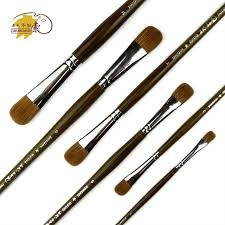 trition 6pcs waterbrush drawing brushes for oil painting weasel hair watercolor water brush pen high quality