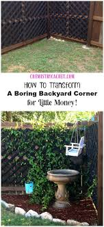 How To Transform A Boring Backyard Corner for LITTLE money! Turn any corner  of your