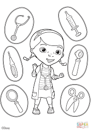 Small Picture Doc Mcstuffins Coloring Pages Free Doc Mcstuffins Tools Coloring