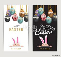 Easter Greeting Card Template Adorable Happy Easter Image Vector Modern Easter Background With Colorful