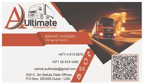 Business Card A Ultimate Transport Bustan Prints