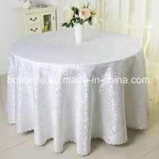 wedding table cloth 108inches jacquard round table cover pictures photos