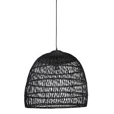 Hanglamp ø53x49 Cm Evelie Rotan Zwart Dutch Home Label