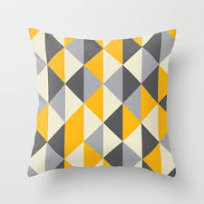 Decorative Throw Pillow Cover Yellow Pattern Designer Accent Pillow Bench  Cushion Chair Houseware Home Decor