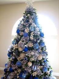 One of our bedrooms is blue and white, and I have part of my collection. Blue  Christmas Tree DecorationsBlue ...