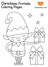 These simple yet fun christmas coloring pages for toddlers feature a total of 5 pages consisting of a little christmas tree, a little elf, a little bear, a little this pack of coloring pages is a free printable! Free Christmas Printable 123 Kids Fun Apps
