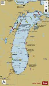 Lake Mi Depth Chart Lake Michigan Marine Chart Us14901_p1361 Nautical