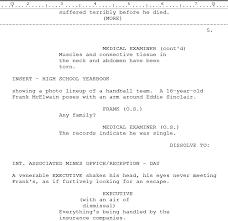 Movie Script Example Screenplay Template Rome Fontanacountryinn Com