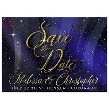 Winter Universe Save The Date Snowflakes Save The Date