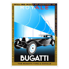 More detailed vehicle information, including pictures. 1931 Bugatti Type 41 Royale Poster New Vintage Posters New Vintage Posters