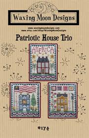 Patriotic House Trio By Waxing Moon Designs