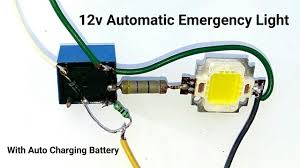 Charging Battery Light Make A 12v Automatic Emergency Light Circuit With Auto Battery Charging System Or Relay Switch