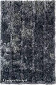 grey faux fur rug black pure a luxury handmade sheepskin large lovely