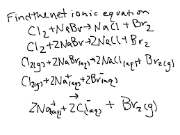 writing net ionic equations for single replacement reactions science showme