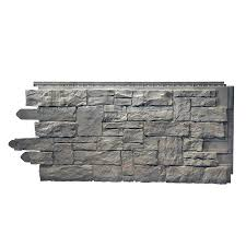 novik stacked stone sk 50 sq ft smoke gray faux stone veneer