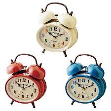 alarm clock quiet bell alarm bedroom table clock north europe スヌーズグライツ if cl9375