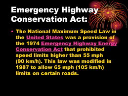 Image result for the Emergency Highway Energy Conservation Act
