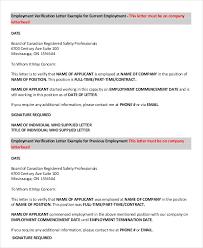 How To Request Employment Verification Letter From Employer Employment Verification Letter 8 Free Pdf Documents
