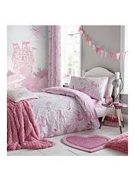 Superb Catherine Lansfield Folk Unicorn Lined Curtains