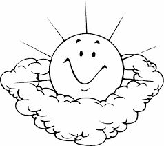 Small Picture Sun And Clouds With Faces Cartoon Coloring Coloring Pages