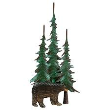 on pine tree forest metal wall art with metal wall tree at black forest decor