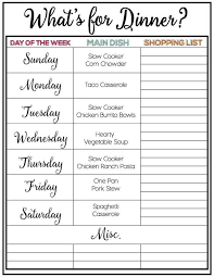 weekly meal plans on a budget weekly meal plan 8 meal plans pinterest meal planning menu