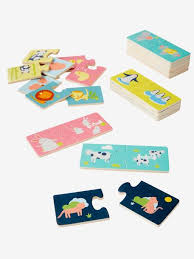 Animal Families <b>Matching Puzzle</b> - beige light two color/multicol, <b>Toys</b>