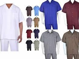 <b>Men's Casual Walking</b> Suit Long Sleeve Shirt &Pants Set <b>Style</b> 2752 ...