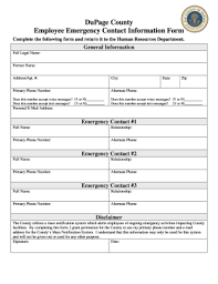 template for emergency contact information 136 printable employee emergency contact form templates