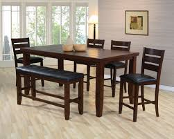 Bench Style Kitchen Tables Picnic Style Dining Table Outdoor Dining Table With Bench Style