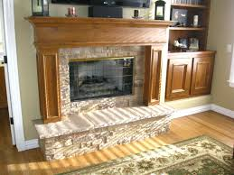 smlf faux stacked stone electric fireplace
