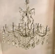 large vintage maria teresa crystal chandelier 1