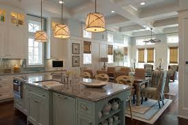 hanging lighting ideas kitchen beach style with wicker dining chair light blue kitchen island blue cabinet kitchen lighting