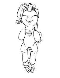 Small Picture Rarity Leaping Free Coloring Page Color My Little Pony