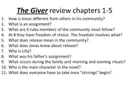 the giver review chapters 1 5