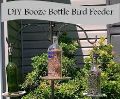 how to make a bird feeder from a liquor bottle