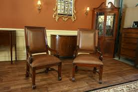 leather upholstered gany dining chairs