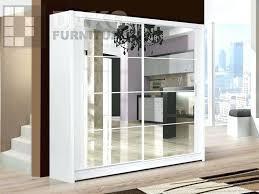 full image for white glasirror sliding wardrobe doors white gloss sliding mirrored wardrobes white