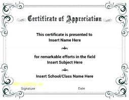 Appreciation Certificates Wording Unique Appreciation Certificate Template Certification Of Sample Wording