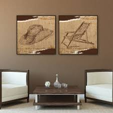 on brown wall art canvas with brown beach chair wall art canvas 24 24 trendy wall squares