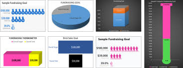 Fundraising Goal Chart Fundraising Goal Thermometer To Track Your Campaigns
