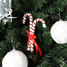 Candy Cane Decorations For Christmas Trees Red White Christmas Candy Cane Decoration Melody Maison 56