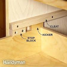 manufactured drawer slides are either expensive or too wimpy for heavy tools both wooden glides how to make drawers glide better remodeling and building