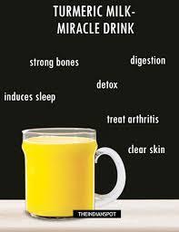 turmeric milk for skin