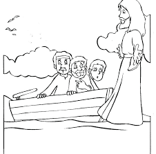 Coloring Pages Jesus Walks On Water Walks On Water Coloring Pages