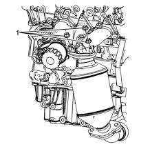 Number one cylinder is right side front while turning the engine watch the intake valve to open and close align the mark on the crankshaft balancer with