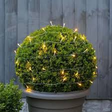 5m outdoor battery fairy lights warm white leds clear cable