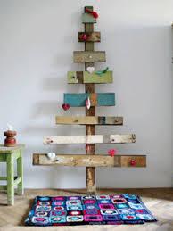 wood wooden shelves alternative unusual unique decorations. Unique  alternative Christmas tree ...