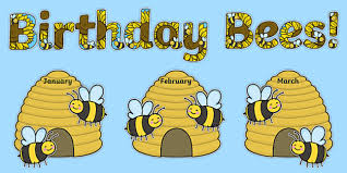 Bee Themed Birthday Chart Birthday Bees Display Pack