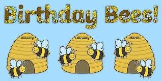 Sparklebox Birthday Charts Birthday Bees Display Pack